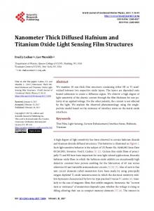 Nanometer Thick Diffused Hafnium and Titanium Oxide Light Sensing ...