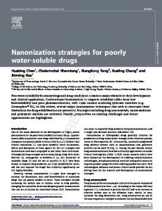 Nanonization strategies for poorly water-soluble drugs
