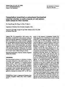 Nanopalladium immobilized on aminoethanol ... - Springer Link
