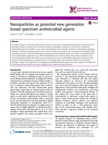 Nanoparticles as potential new generation broad spectrum ...