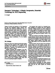 Nanopore Technology: A Simple, Inexpensive ... - Springer Link