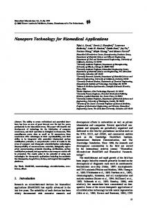 Nanopore Technology for Biomedical Applications