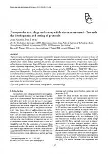 Nanopowder metrology and nanoparticle size measurement - CORE