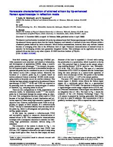 Nanoscale characterization of strained silicon by tip ...