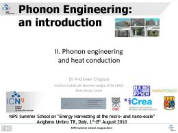 Nanoscale heat transfer and phonon scattering