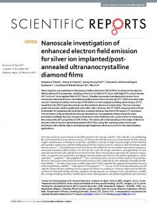 Nanoscale investigation of enhanced electron field ...