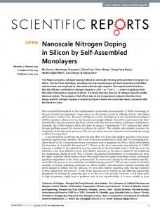 Nanoscale Nitrogen Doping in Silicon by Self