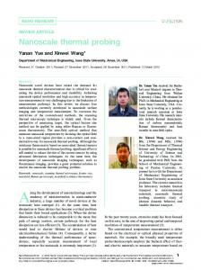 Nanoscale thermal probing - Taylor & Francis Online