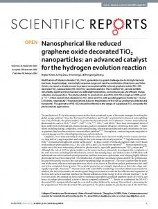 Nanospherical like reduced graphene oxide