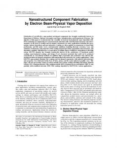 Nanostructured component fabrication by electron ... - Springer Link
