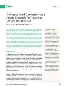 Nanostructured Conversion-type Anode Materials for Advanced