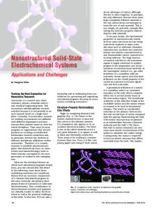 Nanostructured Solid-State Electrochemical Systems: Applications ...