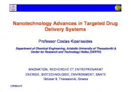 Nanotechnology Advances in Targeted Drug Delivery Systems