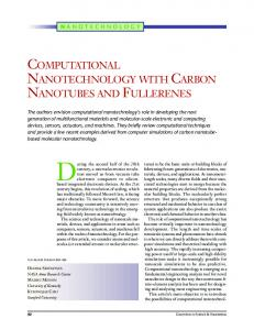 NANOTECHNOLOGY WITH CARBON NANOTUBES AND