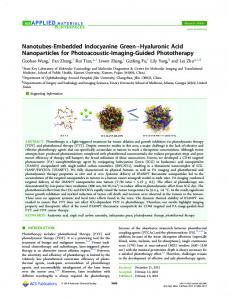 Nanotubes-Embedded Indocyanine Green ... - ACS Publications