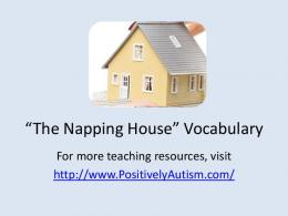 Napping House Vocabulary - Positively Autism