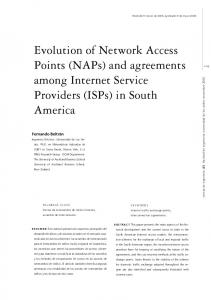 (NAPs) and agreements among Internet Service Providers (ISPs)
