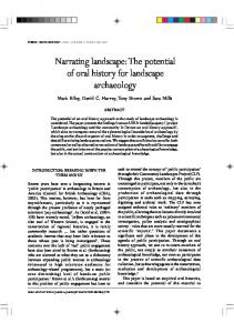 Narrating landscape.pdf - Open Research Exeter - University of Exeter