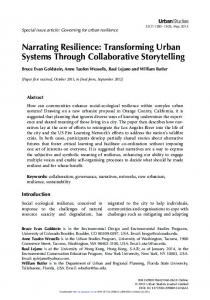 Narrating Resilience - Collaborative Learning Networks