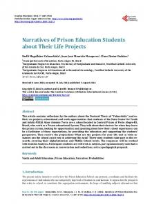 Narratives of Prison Education Students about Their Life Projects