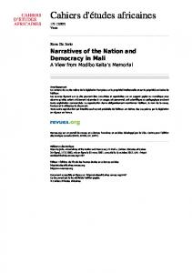 Narratives of the Nation and Democracy in Mali - CiteSeerX