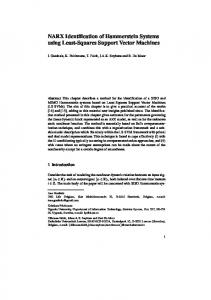 NARX Identification of Hammerstein Systems using Least-Squares ...