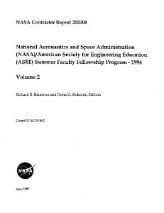 NASA Contractor Report 202008 National Aeronautics and Space ...