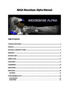 NASA: Moon Base Alpha Manual