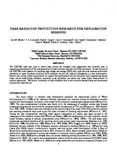 nasa radiation protection research for exploration missions