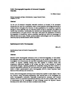 NASA Thermographic Inspection of Advanced Composite ... - QIRT