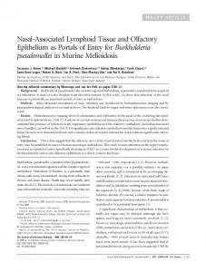 Nasal-Associated Lymphoid Tissue and Olfactory Epithelium as ...