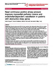 Nasal continuous positive airway pressure improves ... - CiteSeerX