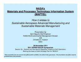 NASA's Materials and Processes Technology Information System ...