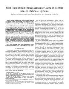 Nash Equilibrium based Semantic Cache in Mobile