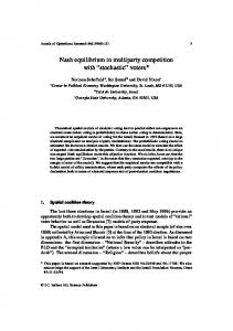 Nash equilibrium in multiparty competition with - Department of ...