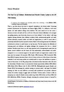 Natalie Wreyford The Real Cost of Childcare: Motherhood and ...