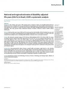 National and regional estimates of disability-adjusted life-years ...
