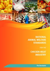National Animal Welfare Standards for the Chicken Meat Industry