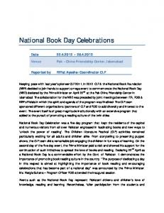 National Book Day Celebrations