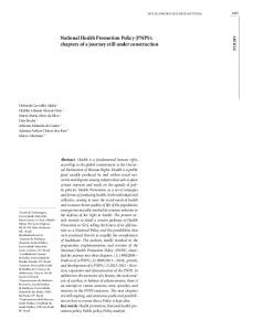 National Health Promotion Policy (PNPS): chapters of a ... - SciELO