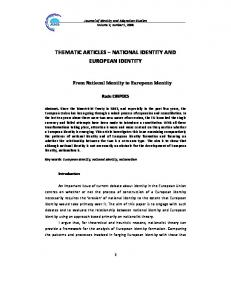 national identity and european identity - Research Centre on Identity ...