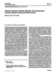 National Institutes of Health Blueprint ...