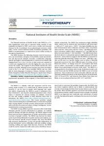 National Institutes of Health Stroke Scale (NIHSS) - Journal of ...