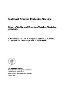 National Marine Fisheries Service - NMFS Scientific Publications Office