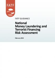 National Money Laundering and Terrorist Financing Risk Assessment