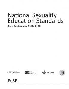 National sexuality education standards pdf