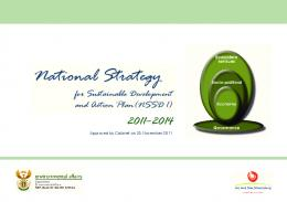 National Strategy for Sustainable Development and Action Plan