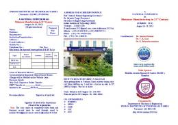 National Symposium on Miniature Manufacturing in 21st ... - IIT (BHU)