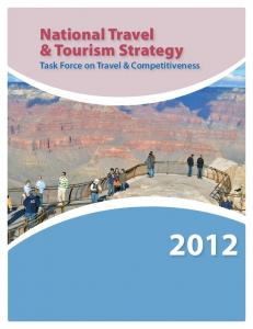 National Travel & Tourism Strategy