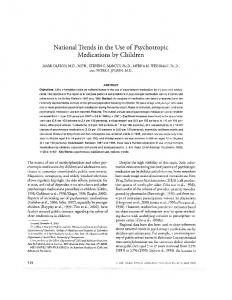 National Trends in the Use of Psychotropic Medications by Children